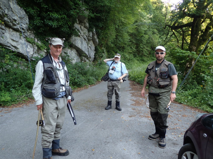 Paul, Mladen (guide) and Marc